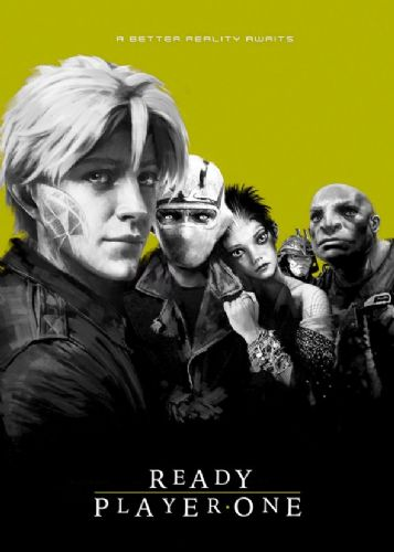 2010's Movie - READY PLAYER ONE - LOST BOYS YELLOW / canvas print - self adhesive poster - photo